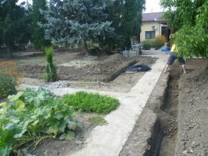 зариване на изкопи