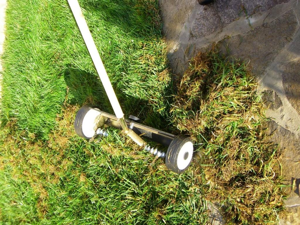 аериране на тревни площи
